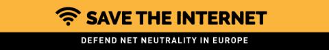 Save the Internet kampagnebanner
